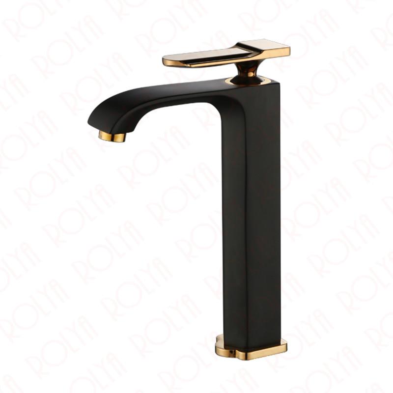Rolya Aldrich Vessel Sink Faucet---Golden/Black/Chrome - Rolya Faucet