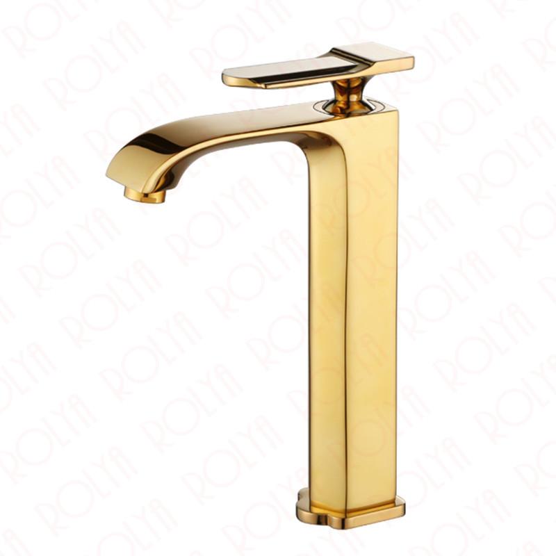 Rolya Aldrich Vessel Sink Faucet---Golden/Black/Chrome - ROLYA