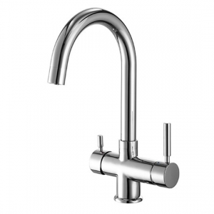 ROLYA Round  4 Way Kitchen Tap Chrome