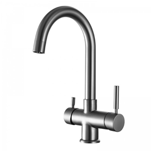 ROLYA Brushed Nickel 4-Way Kitchen Faucets