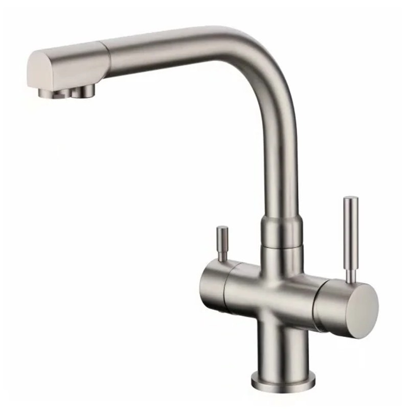 rolya brushed nickle ro water reverse kitchen faucets 3 way water filter taps