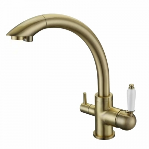 rolya antique bronze 3 way water filter tap kitchen faucet